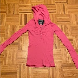 PINK thermal hoodie *WITH BLING*